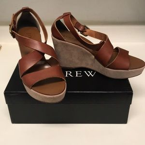 J. Crew leather/suede wedges